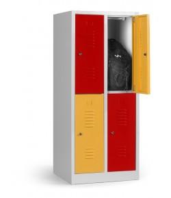 Šatňová skriňa školská SL2x2 - farebná