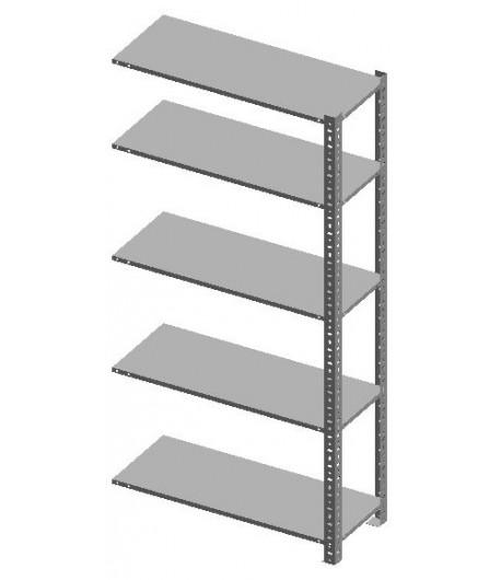 Regál kovový skrutkovaný 305- 5 políc- Prídavné pole