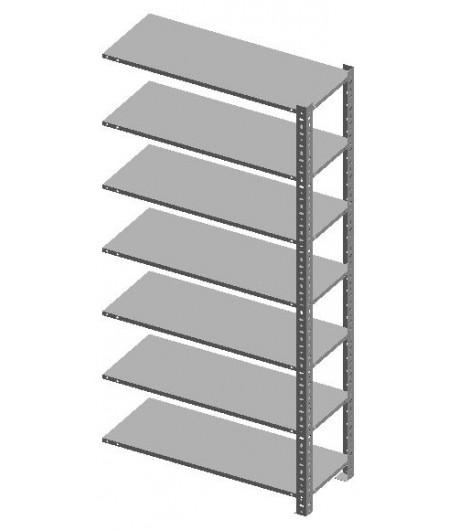 Kovový regál skrutkovaný 2440x1000x305 - 7 políc PP