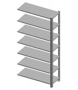 Kovový regál skrutkovaný 2440x1000x457 - 7 políc PP