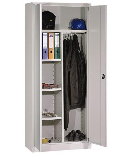 Pracovná šatníková skriňa P6B38 - poličky, odkladací priestor