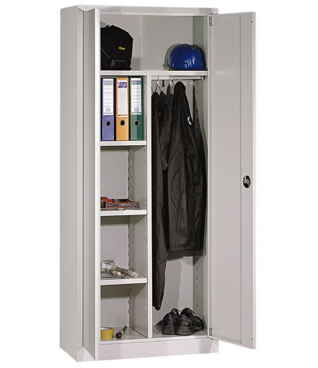 Pracovná šatníková skriňa P8F49 - poličky, odkladací priestor