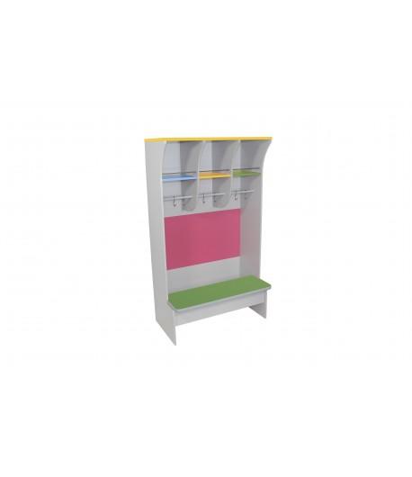 Šatňová skrinka s lavičkou STR1 farebná