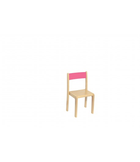 Detská stolička buková BKR2 ružová