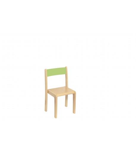 Detská stolička buková BKR3 zelená