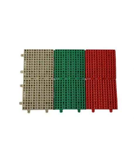 Protišmyková plastová rohož - červená,zelená,šedá